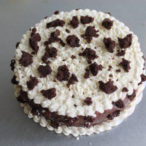 Ijstaart met chocolade